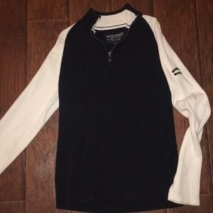 Nautica Jeans men sweater navy and white